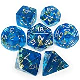 Haxtec DND Dice Set 7PCS Polyhedral Dice for