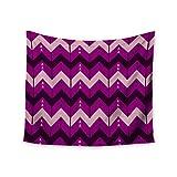 KESS InHouse Nick Atkinson ''Chevron Dance Purple'' Wall Tapestry, 68'' X 80''''