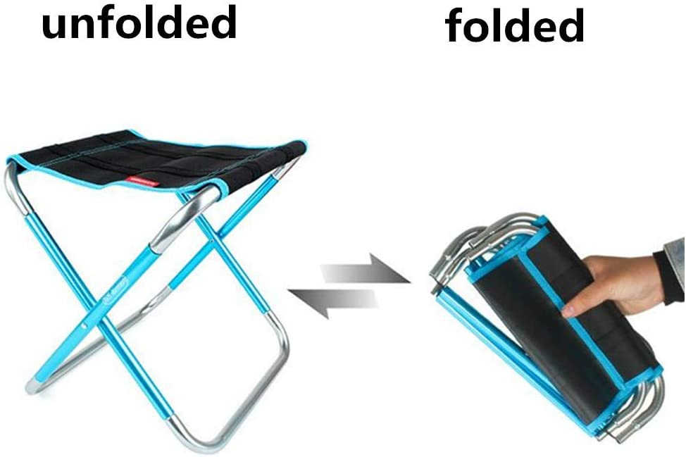 Travel Large Size Outdoor Foldable Chair for Camping Beach Garden Hiking KOLODOGO Portable Folding Camping Stool BBQ Lightweight Camping Stool Fishing