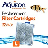 Best Fish Filter For 50 Gallon Tanks - Aqueon 06419 Filter Cartridge, Large, 12-Pack Review