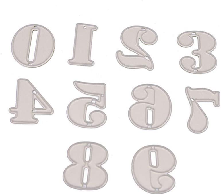 Amazon Com Carbon Steel Metal Stencils Cutting Dies Craft Templates Numbers For Scrapbooking And Card Making Diy Crafts Home Improvement