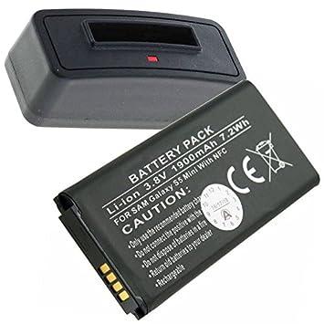 Cargador y batería con nfc, apta para Samsung Galaxy S5 Mini ...