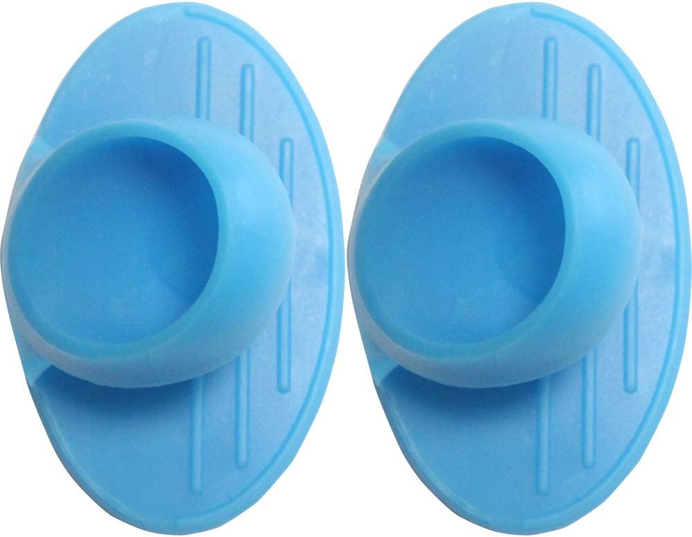 NICE CATCH Magnetic Silicone Pot Holders and Oven Mitts, 2PCS Heat Resistant Flexible Non-Slip Compact Grip, Safe Cooking for All, Including Kids (Blue)