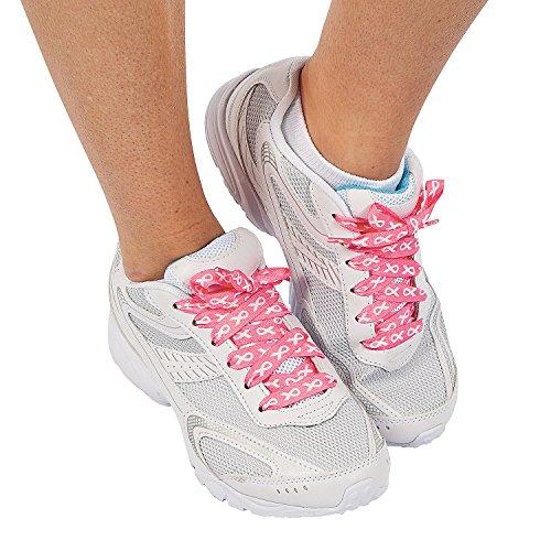 Fun Express Breast Cancer Awareness Pink Ribbon Shoelaces - 6 Pair]()