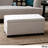 Tiffany Malm Storage Bench. This Furniture Storage Bench Is A Convenient Seating Solution For Any Room In Your Home. Each Storage Ottoman Features A Quilted Faux Leather Design And Ample Space To Complete Any Living Room Furniture Arrangement. (White) Review