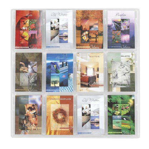 Safco 5610CL Reveal Clear Literature Displays 12 Compartments 30w X 2d X 30h Clear
