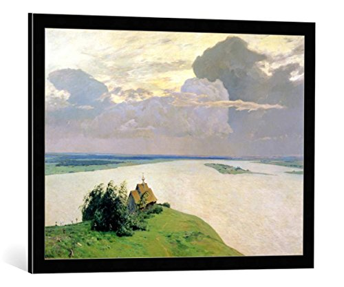 kunst für alle Framed Art Print: Isaak Ilyich Levitan Above The Eternal Peace 1894