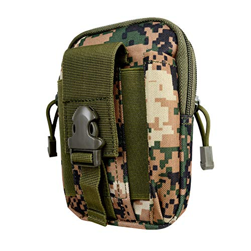 Wolfteeth Multilayer Classic Camouflage Vape Travel Carry Waist Bag Storage Case for Electronic Cigarette Box Mod Vape Pen E-Liquid Atomizer Tank Nicotine Free(Case Only)123001