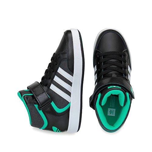 adidas Varial Mid J, Zapatillas de Skateboarding para Niños Negro (Negbas / Ftwbla / Menimp)