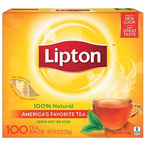 Lipton Black Tea Bags, 100% Natural Tea, 100 ct ()