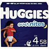 Nighttime Baby Diapers Size 4, 58 Ct, Huggies