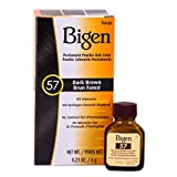 Bigen Permanent Powder Hair Color 57 Dark Brown 1 ea (Pack of 12)