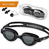 Swim Goggles - Swimming Goggles with Nose Clip + Ear Plugs, Anti Fog for Adult Men Women Youth Kids Child (Pro-Color)