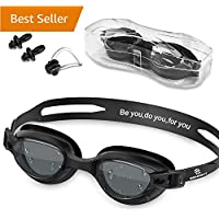 Swim Goggles - Swimming Goggles with Nose Clip + Ear...
