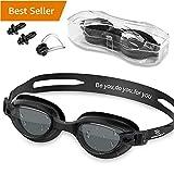 Swim Goggles - Swimming Goggles with Nose Clip + Ear Plugs