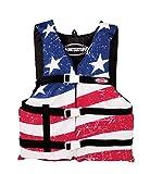 SportsStuff Stars & Stripes Life Jacket Adult Universal General Boating PFD