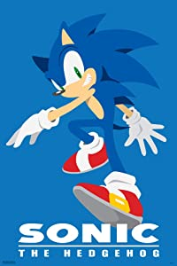 Pyramid America Sonic The Hedgehog Character Sega Video Game Gaming Cool Wall Decor Art Print Poster 12x18