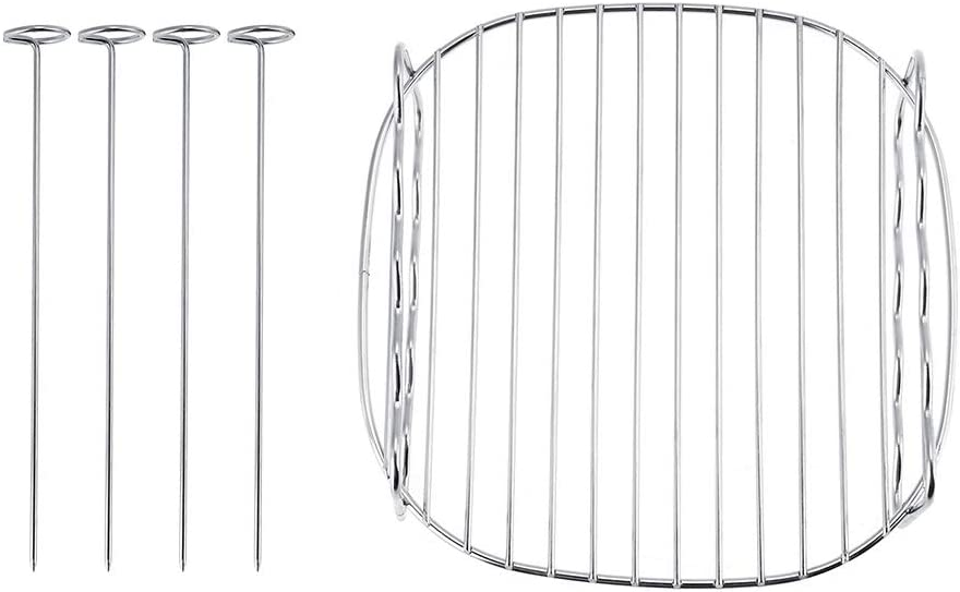 NCONCO BBQ Rack Double Layer Skewers Baking Tray BBQ Tool for Air Fryer