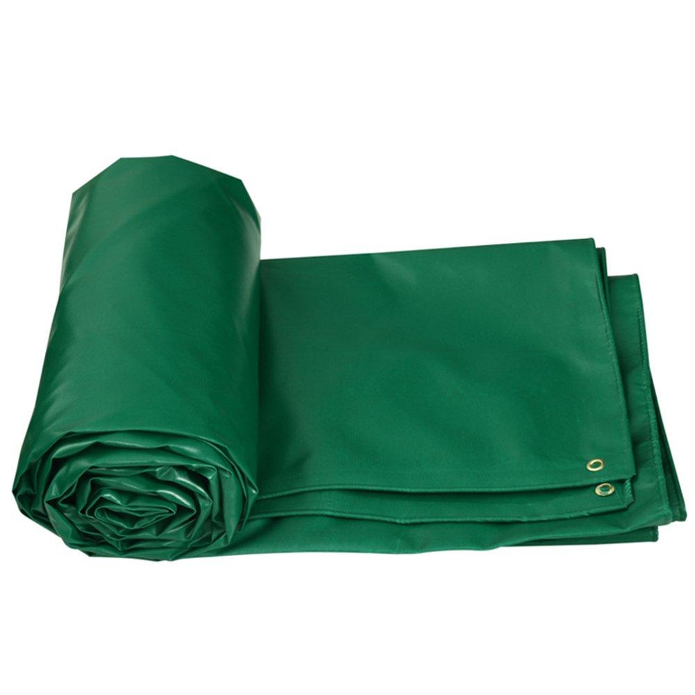 CHAOXIANG オーニング 両面 防水 不凍液 耐高温性 防食剤 老化防止 厚い PVC、 5色、 520g/m 2、 厚さ 0.5mm、 8サイズ 利用可能な、 カスタムサイズ (色 : 緑, サイズ さいず : 5x6m) B07D2WS2FX 5x6m|緑 緑 5x6m