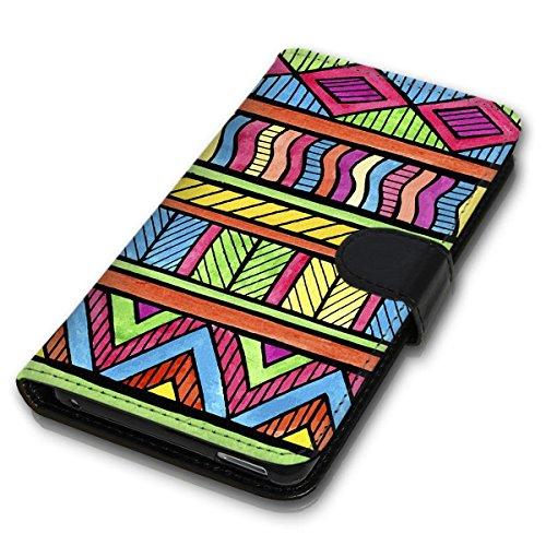 Wallet Book Style Flip Handy Tasche Case Schutz Hülle Schale Motiv Etui für Apple iPhone 6 / 6S - Design Flip MVD51