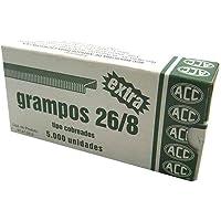 Grampo 26/8 Extra Cobreado 5000 Grampos Acc 10 Caixas