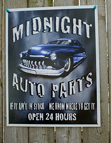 Legends - Midnight Auto Parts Metal Tin Sign , 12x16