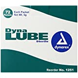 Dynarex Dynalube Sterile Lubricating Jelly, 5-Gram Packet, 72-Count (Pack of 12)