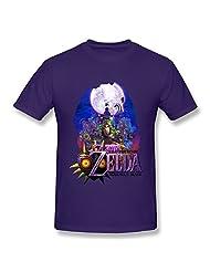 SOI Men's Tshirts The Legend Of Zelda Majora's Mask Size XXL Purple