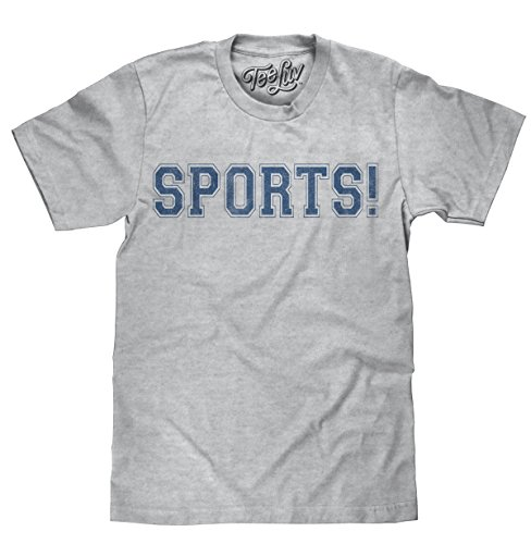 (Tee Luv Sports! T-Shirt - Novelty Sports Shirt (X-Large) Heather Grey)