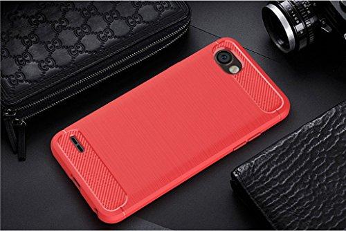 Funda LG Q6 Alpha,Funda Fibra de carbono Alta Calidad Anti-Rasguño y Resistente Huellas Dactilares Totalmente Protectora Caso de Cuero Cover Case Adecuado para el LG Q6 Alpha D