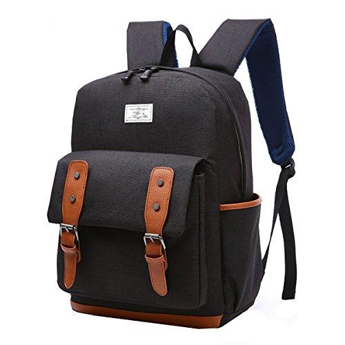 Double The Backpack Computer Korean Of Bag Black Shoulder Sports Version Fashion xSt4E