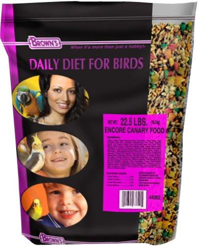 F.M. Brown's Encore Premium Canary Bird Food, 22.5-Pound