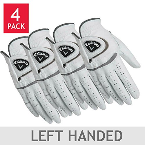 Callaway Men's Leather Golf Glove 4-pack: Right and/or Left Handed (Small, left)
