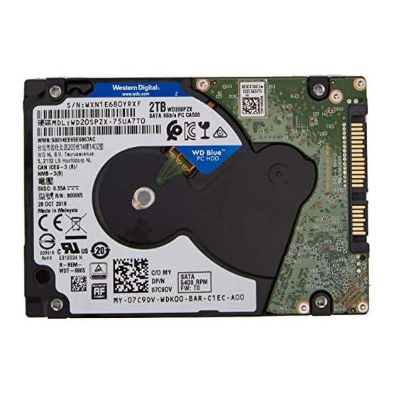 "WD Blue 2TB Mobile Hard Drive - 5400 RPM Class, SATA 6 Gb/s, 128 MB Cache, 2.5"" - WD20SPZX 512dghKbjmL. SS555"