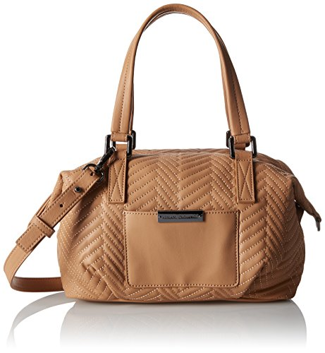 A X Armani Exchange Quilted PU Mini Duffle Bag - Camel Ta...