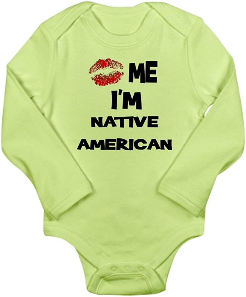 CafePress Kiss Me Im Native American Infant Creeper Body Su Cute Long Sleeve Infant Bodysuit Baby Romper