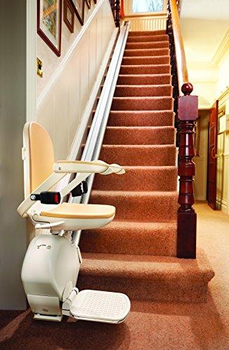 Domizil Exclusiv Superglide Treppenlift für gerade Treppen / Innenbereich, Schienenlänge 5 m