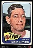 1965 Topps # 384 Johnny Klippstein Minnesota Twins (Baseball Card) Dean's Cards 2 - GOOD Twins
