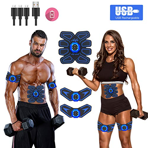 JDASDASF Abs Stimulator Ab Stimulator Muscle Toner Rechargeable Muscle Trainer Ultimate Abs Stimulator for Men Women Abdominal Work Out Ads Power Fitness Abs Muscle