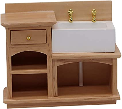 Doll Kitchen Play Set For Barbie 1:6 Toy Doll House Furniture Sink Oven  Table