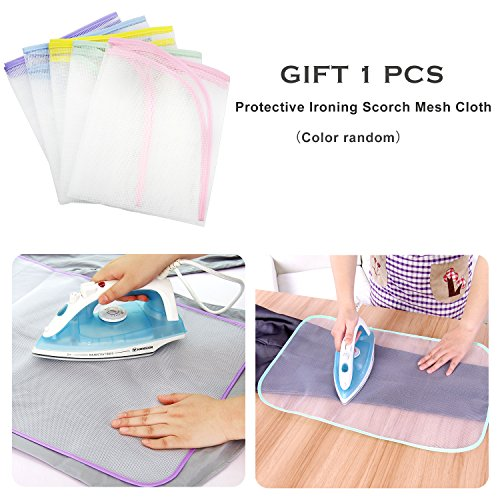 Ironing Blanket Ironing Mat,Upgraded Thick Portable Travel Ironing Pad,Heat Resistant Pad Cover for Washer,Dryer,Table Top,Countertop,Ironing Board for Small Space (18.9 x 33.5 inch) by YQMAJIM (Image #6)