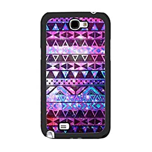 Hu Xiao Cool Galaxy Nebula Design Bright Blue Aztec Geometric Triangle case cover for Samsung Galaxy Note 2 B1jkRkgufHv N7100 protective cell phone case cover SkinKimberly Kurzendoerfer