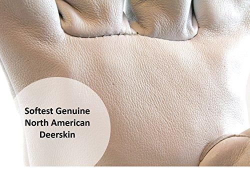 (12 PAIRS) Weldas DEERSOsoft Pearl Grain Deerskin, 4'' Cowhide Cuff - Welding MIG/TIG Gloves - Kevlar Sewn - Size L by Weldas (Image #1)