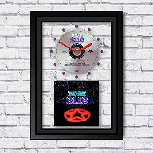(RUSH - 2112: FRAMED CD WALL CLOCK/With Cover Art)