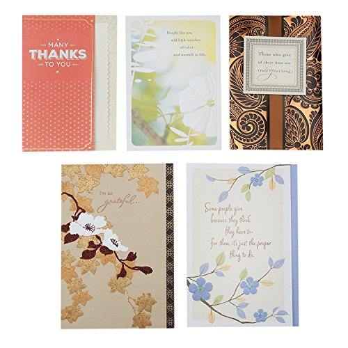 Hallmark Thank You Greeting Card Assortment (5 Cards, 5 Envelopes) by Hallmark