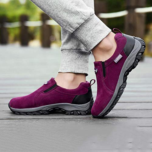 Shoes Purple Hiking Shoes Lightweight Hiking Shoes Sneakers Outdoor Low Breathable FH Women's top Shoes One Legged Xx61Zwvw
