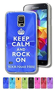 Personalized Case/Cover Iphone 5/5S - KEEP CALM AND ROCK ON - Engraved for FREE