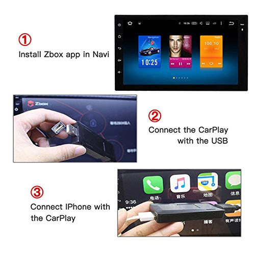 Finetoknow USB Android Navigation Player Smart Link Dongle for iOS Apple CarPlay Android Auto