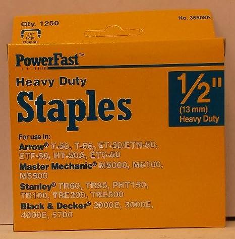 "Powerfast 1//2/"" Heavy Duty Staples"