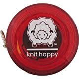 K1C2 Knit Happy Tape Measure-Red